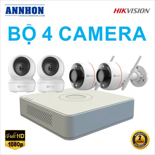 Bộ 4 Camera IP Wifi không dây